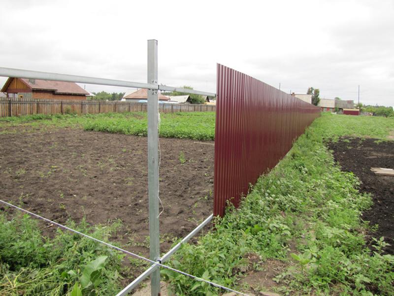 Забор из металлопрофиля без сварки
